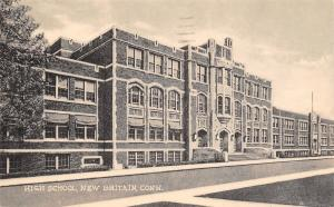 New Britain Connecticut~New High School~Hurricane Agnes Mentioned RPPC 1920s?
