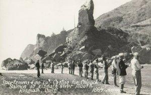 RP: KLAMATH , California , 1930-40s ; Men Fishing