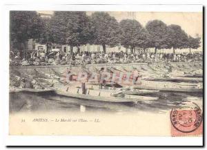 Amiens Old Postcard The walk on & # 39eau TOP
