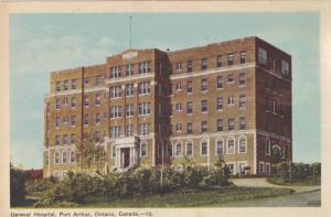 General Hospital , Port Arthur , Ontario , Canada , 30-40s