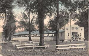 Muncie Indiana West Side Park Skating Rink Antique Postcard K23211