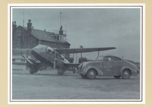 Liverpool Aerodrome in 1935 Royal Mail Plane Transport Postcard