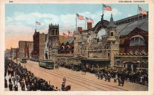 Coliseum, Chicago, Illinois, Early Postcard, Unused