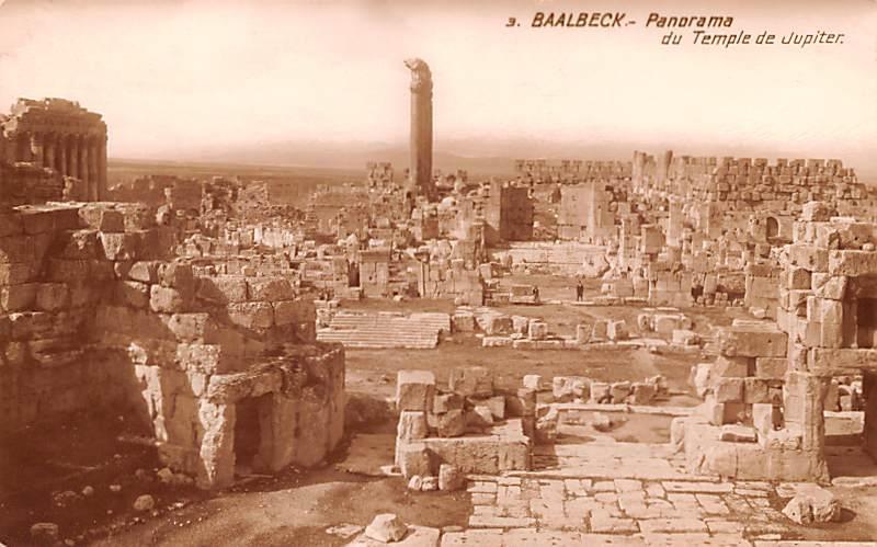 Baalbek, Lebanon Postcard, Carte Postale du Temple de Jupiter Baalbek du Temp...