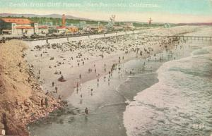 Postcard Beach from Cliff House San Francisco California