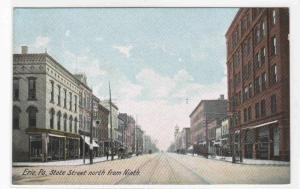 State Street North from Ninth Erie Pennsylvania PA 1910 postcard