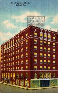 Virginia Bristol Hotel General Shelby Curteich