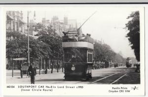Glamorgan; Southport Car No 8 In Lord St c 1905 RP PPC By Pamlin, M3154