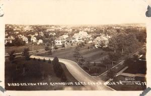 Cedar Falls Iowa Birdseye View Real Photo Antique Postcard K30481