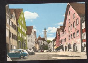 HORB AM NECKAR 1960's CARS DOWNTOWN STREET SCENE GERMANY VINTAGE POSTCARD