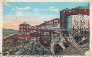 BUTTE, Montana, 1910-20s; Butte's First Zinc Mill, Butte and Superior Mining Co.