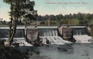 ONTARIO, Canada, PU-1912; Brook's Dam, River Lynn
