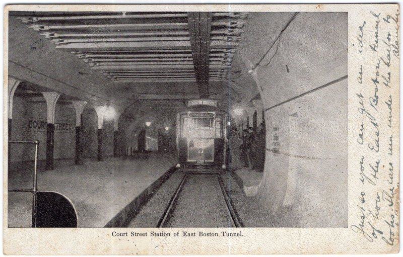 Court Street Station of East Boston Tunnel