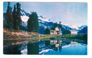 Diamond Head Chalet Reflected in Water, Giribaldi Park, British Columbia, Can...