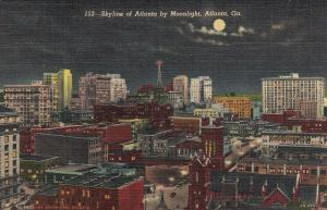 ATLANTA , Georgia , 30-40s ; Skyline of Atlanta by Moonlight
