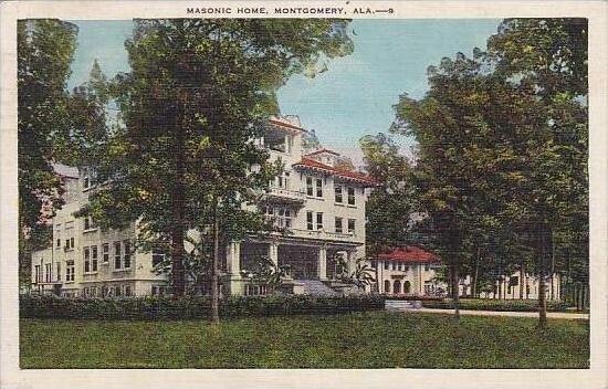 Alabama Montgomery Masonic Home 1937
