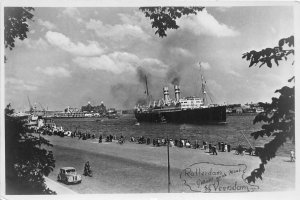 Lot 50 rotterdam netherlands ship s s veendam real photo paquebot liner