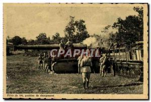 Old Postcard Militaria Canon Piece 194 loading position