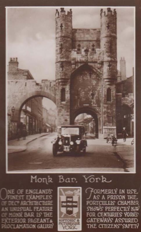 Yorkshire York Monk Pub Bar Prison Pageant History Chamber Real Photo Postcard