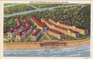 Ohio Cedar Point On Lake Erie Breakers Hotel Curteich