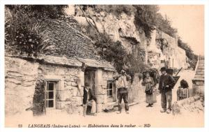 France Langeais  Villages dwelling side of a mountain
