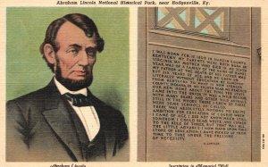 Vintage Postcard 1930's Abraham Lincoln National Historical Park Hodgenville KY
