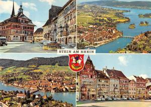 GG12126 Stein am Rhein Rathaus Town Hall Auto Cars Bridge River