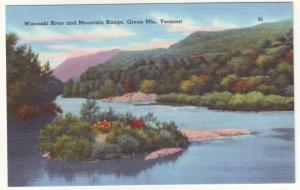 P509 JLs old winooski river mountains green mts. vermont