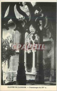 Postcard Old Cloister of Cadouin fenestration fifteenth S