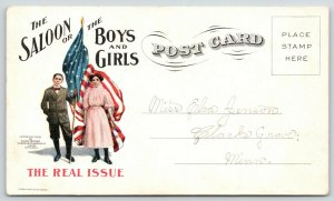 Salem Oregon~Prohibition Issue~Saloon: Boys & Girls~Young People Temperance~1908
