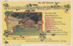 Song Card My Old Kentucky Home Curteich