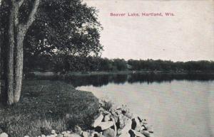 Wisconsin Hartland Scene Along Beaver Lake 1912