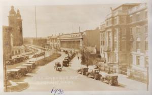West Riverside Avenue Spokane WA Washington Old Cars c1930 RPPC Postcard E20