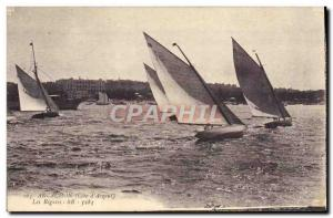 Postcard Old Boat Sailing regattas The Arcachon