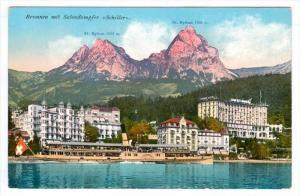 Brunnen Mit Salondampfer Schiller, Lake Lucerne, Switzerland, 1900-1910s