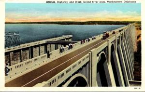 Oklahoma Highway and Walk Grand River Dam Northeasten Oklahoma Longest Multip...