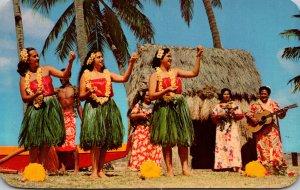 Hawaii Honolulu Hula Girls Photo By Pan American World Airways