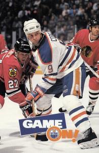 ICE HOCKEY , Edmonton Oilers , Alberta , Canada , 1994-95