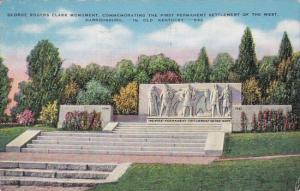 George Rogers Clark Monument Commemorating The First Permanent Settlement Of ...