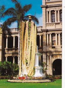 Hawaii Honolulu Statue Of King Kamehameha