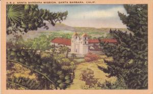 Santa Barbara Mission, SANTA BARBARA, California, 1930-1940s