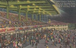 ST PETERSBURG, Florida, 30-40s; Typical Crowd at Derby Lane, Greyound Racing