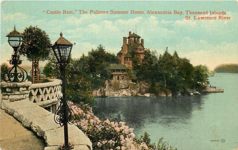 Thousand Islands New York~Castle Rest From Parapet~Pullman's Summer Home~1908