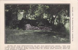 Ruins Of Old Springhouse At My Old Kentucky Home, Log Cabin, Louisville, Kent...