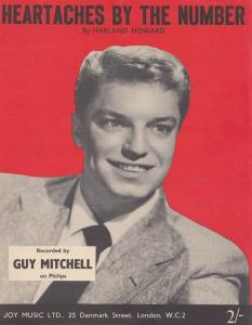 Heartaches By The Number Guy Mitchell 1950s Sheet Music