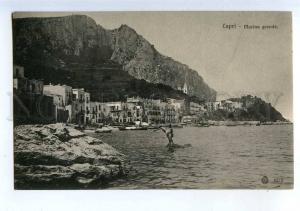 206579 ITALY CAPRI Marina grande Vintage postcard