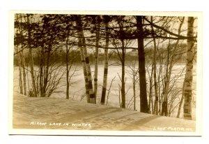 NY - Lake Placid. Mirror Lake in Winter           *RPPC