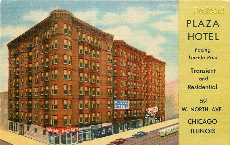IL, Chicago, Illinois, Plaza Hotel, 59 W. North Avenue, Curteich