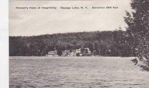 New York Oquaga Lake Hansons Hotel Of Hospitality Albertype