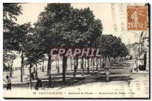 Postcard Old St Nazaire Boulevard L & # 39Ocean